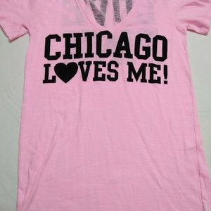 Pink Chicago Loves Me TShirt